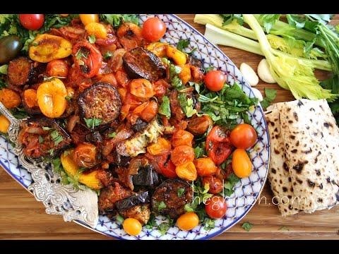 Celery Eggplant Salad Recipe - Armenian Cuisine - Heghineh Cooking Show