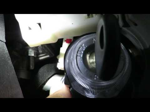 Ignition lock cylinder replacement, Hyundai Sonata 2007