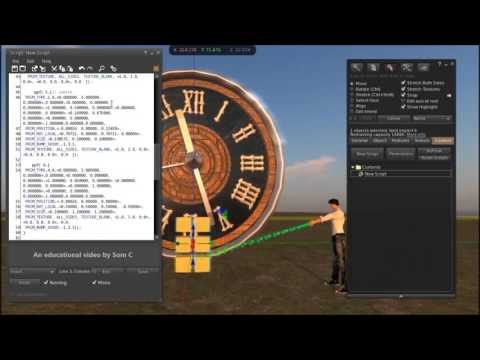Build  an ANADIGI CLOCK for OPENSIM AND SECONDLIFE- Get the free Script