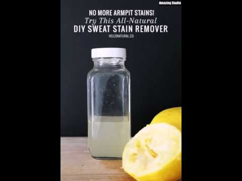 All Natural DIY Sweat Stain Remover Solution