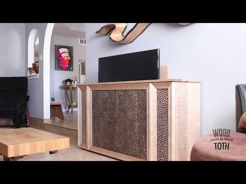 Maple Cabinet With Pop Up TV