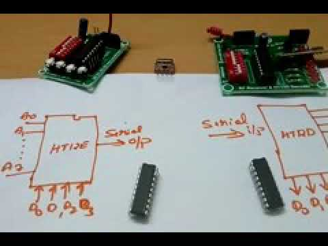 RF transmitter (433MHz) and Receiver using HT12E / HT12D