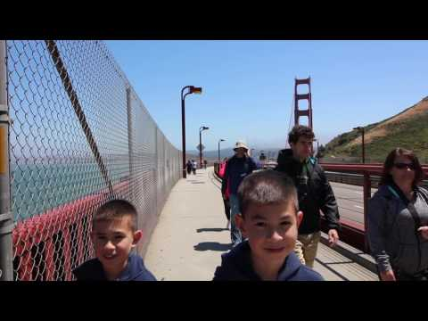 Roadtrip USA Vlog - Hiking the Golden Gate with my kids