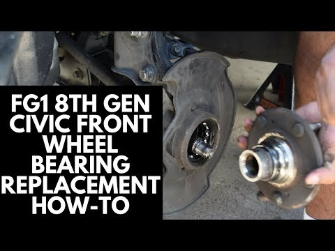 Front Wheel Bearing Replacement (Without a Hydraulic Press) [8th Gen FG1 Honda Civic]