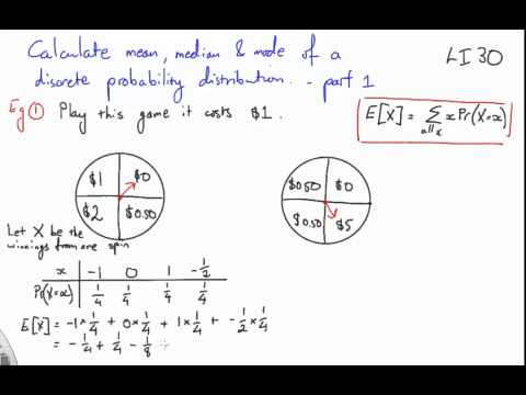 30 Calculate mean, median and mode part 1