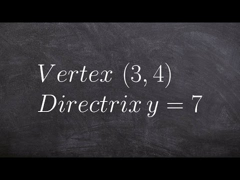 How to find the equation of a parabola in conic sections given vertex and directrix