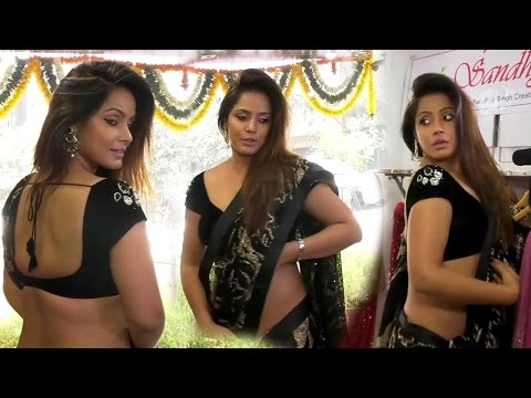 Xxx Mp4 Neetu Chandra In Black Saree At Designer Sandhya Singh 39 S Store Launch 3gp Sex