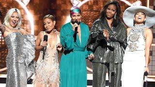 Download Lady Gaga, Michelle Obama, Jennifer Lopez and Jada Pinkett Smith on Their Empowering GRAMMY Moment Video