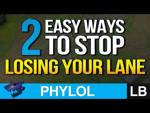2 Easy Ways to STOP LOSING YOUR LANE / TRADES - League Basics 1 (League of Legends)