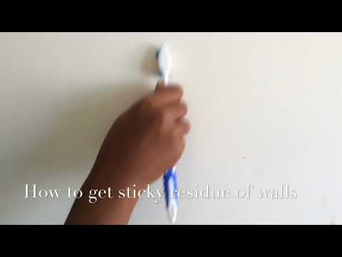 How to get sticky residue off walls