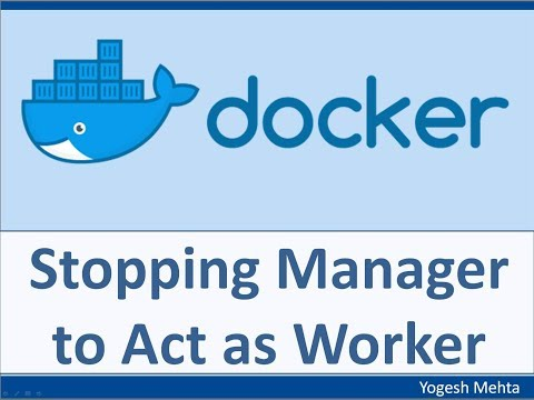 Docker Swarm | How to stop the Manager to act as Worker