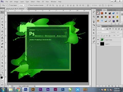 Photoshop Tutorial | How To Change Splash Screen Effect In Photoshop CS6 |