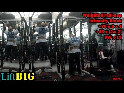 Building a BIG WIDE BACK with Heavy Weighted Pull ups +70x2x4 and Traps