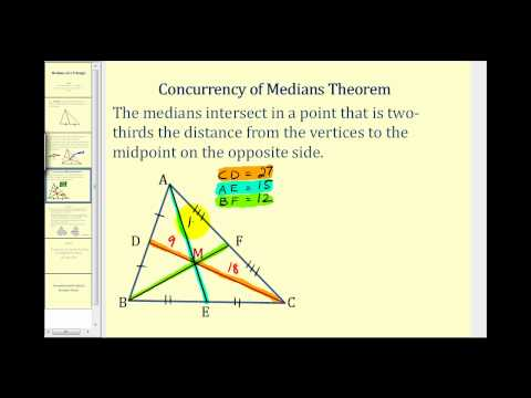 The Medians of a Triangle