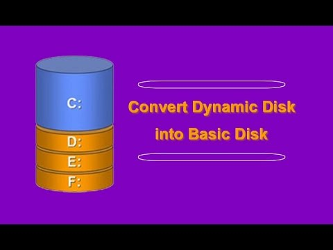 How to convert dynamic disk to basic disk without losing data   easiest method