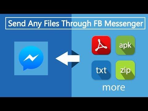 How can I send files through FB Messenger?