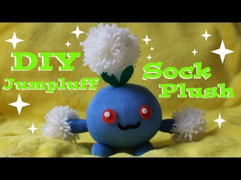 ❤ DIY Jumpluff Sock Plush! How To Make A Cute Pokemon Plushie! ❤
