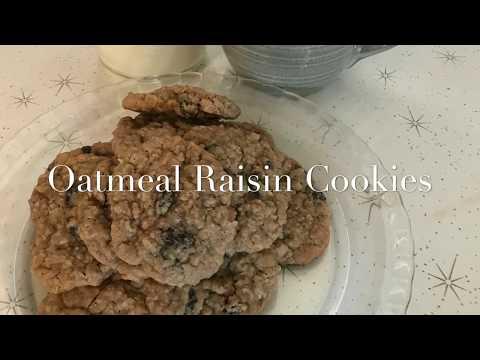 Oatmeal Raisin Cookies, Homemade