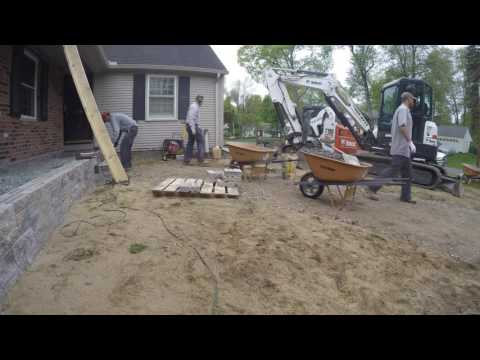 How We Do a Front Yard Make Over - Porch, Steps, Walkway & Landscaping - Time Lapse Video