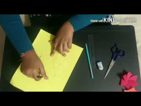How to make flower envelope card with easy steps in Hindi or English/ Saakshi aggarwal