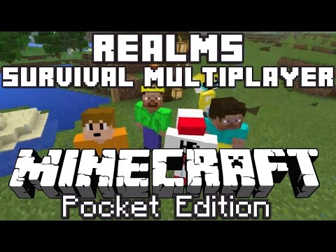 Minecraft PE Realms Survival Multiplayer Episode 1 [0.15.0]