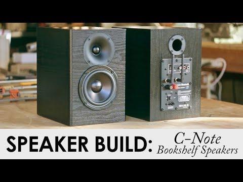 C-Note Bookshelf Speakers Kit Build || Built In WiFi & Bluetooth Amp!