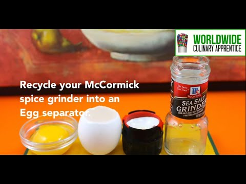 Recycling McCormick Grinder into an Egg Separator - Egg Cracker