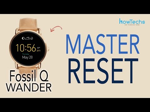 Fossil Q Wander - How to do a Master Reset