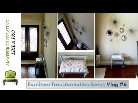 Furniture Transformation Series Vlog #6 - Foyer Makeover