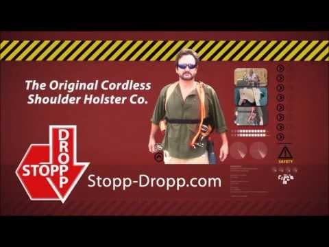 tool holster constructions - Stopp Dropp - Cordless power equipment shoulder Holster