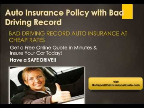 How To get auto Insurance With Bad Driving Record With Full Coverage
