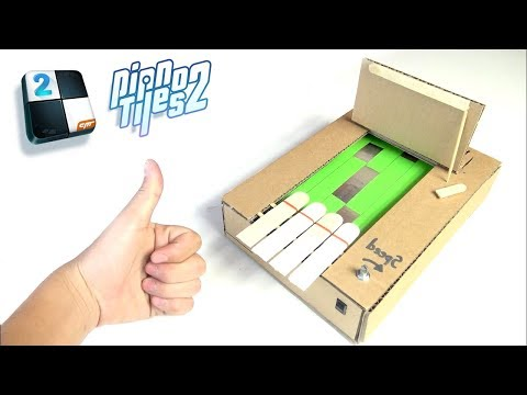 How to Make Piano Tiles 2 from Cardboard [No.7] Amazing Game from Cardboard
