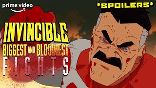 The Biggest and Bloodiest Fights: Contains Major Spoilers | Invincible | Prime Video