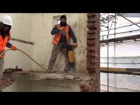 Building work in London