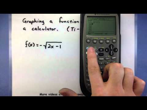 Pre-Calculus - Using a calculator to graph a function (Ti-89)