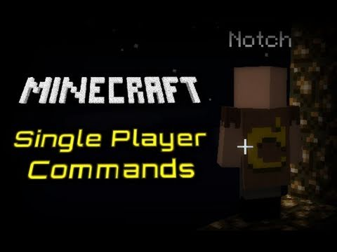 Minecraft: Single Player Commands Tutorial!