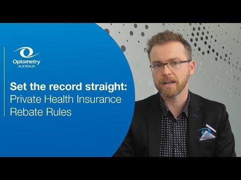 Private Health Insurance Rebate Rules