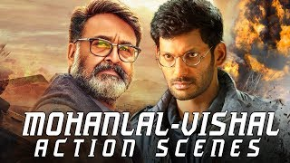 Mohanlal - Vishal Best Action Scenes | 2019 Latest Hindi Dubbed Fight Scenes