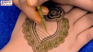 Make Easy Mehndi Design For Wedding || Mehndi Design || Latest Mehndi Design #132 @jaipurthepinkcity