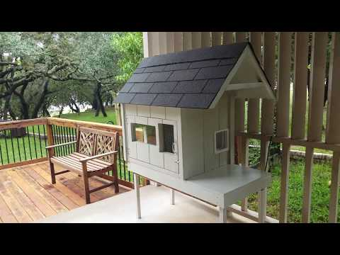 Built Feral Cat House - Holds 4 - Winter Shelter - How To Build - 2 Story Cat House