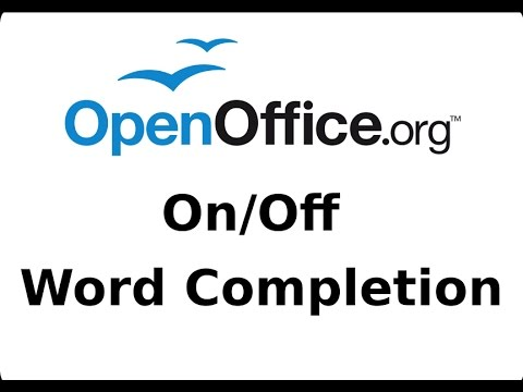 Turn Off or On The Word Completion Feature - OpenOffice Writer Tutorial