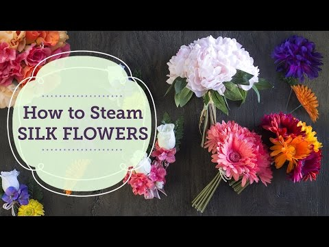 How to Steam Silk Flowers   BalsaCircle.com