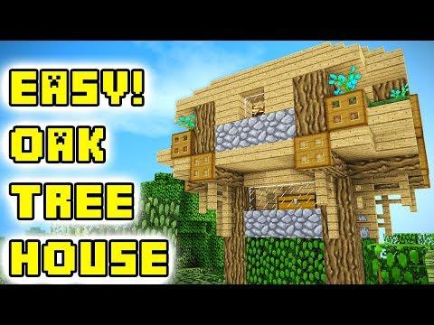 Minecraft Tutorial: Easy Oak Treehouse Build