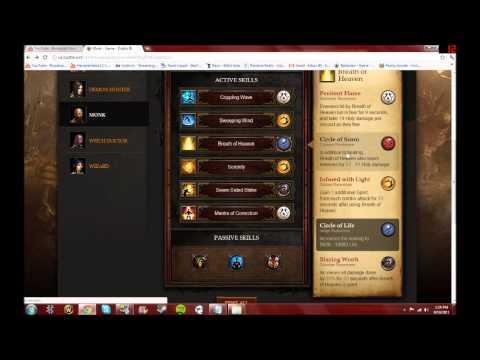 Diablo 3 Beta Skills Calculator - Monk Healing and Support Build