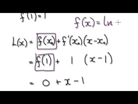 Video 1391 - Linear Approximation - Ln x - Practice 4