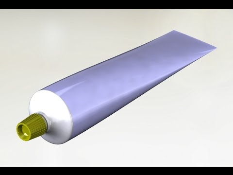 Solidworks | surfacing tutorial |Toothpaste tube