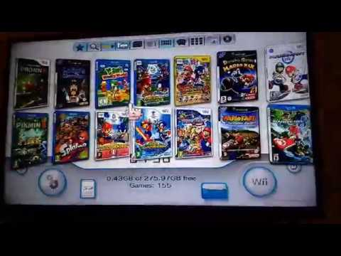 Iniando jogo de Game Cube pelo USB Loader GX no Wii U