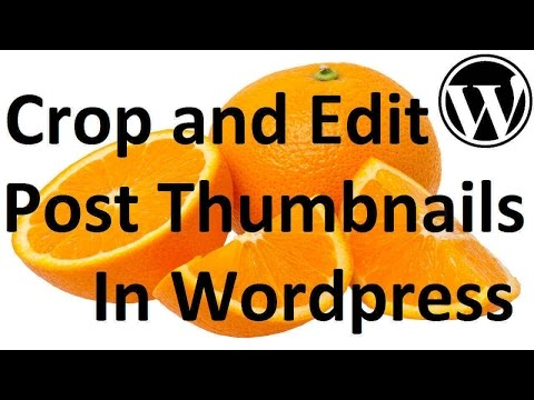 How To Edit Post Thumbnail Size In A Wordpress Site: Simply Crop and Edit