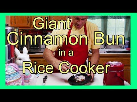 Giant Cinnamon Bun In A Rice Cooker - Baking Cinnamon Rolls in a Rice Cooker
