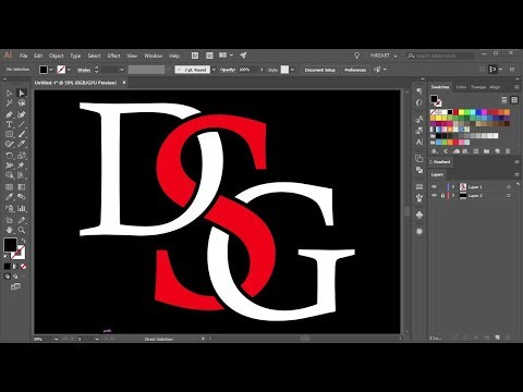 How to Overlap Letters in Adobe Illustrator | 1